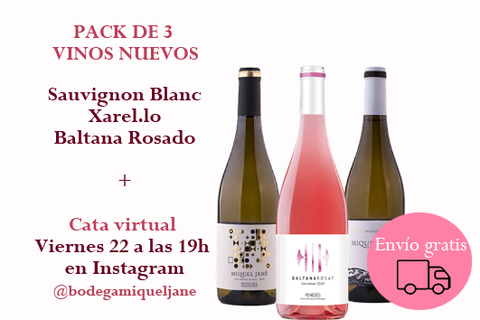 Pack de 3 ampolles + cata virtual